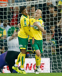 Norwich City's Josh Murphy celebrates scoring his side's first goal of the game