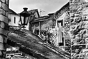Roofs and buildings in the Old City of Kotor, Montenegro