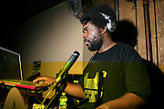 """Questlove at The Roots Album realease party for """"Roots Down"""" at Sutra on April 29, 2008"""".. The Legendary Roots Crew, the influential, Grammy Award-winning American band from Philadelphia, Pennsylvania, famed for a heavily jazzy sound and live instrumentation, have made 10 Albums to date."""