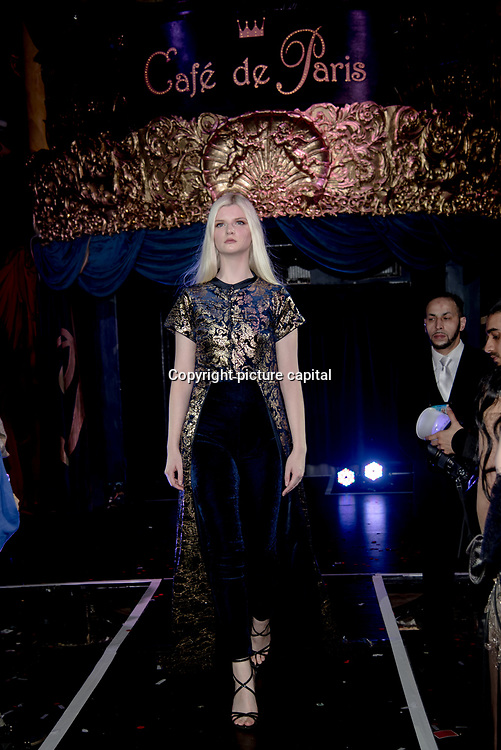 International designers night show & influencers party - Catwalk Show on 27 April 2018 at Cafe de Paris, in London.