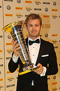 Motorsportler des Jahres, Nico ROSBERG, Formel 1 Pilot mit Pokal  <br /> ADAC SPORT GALA 2016 - 17.12.2016, Motorsportler Ehrung in München, Motorsportler des Jahres - Photo Credit: © ATP / THILL Arthur