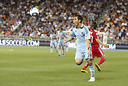 09 June 2011: Kansas City's Omar Bravo (MEX). Sporting Kansas City played the Chicago Fire to a 0-0 tie in the inaugural game at LIVESTRONG Sporting Park in Kansas City, Kansas in a 2011 regular season Major League Soccer game.