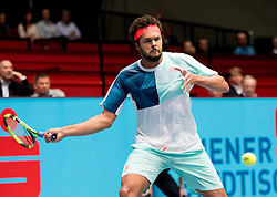 25.10.2016, Stadthalle, Wien, AUT, ATP Tour, Erste Bank Open, 1. Runde, im Bild Jo Wilfried Tsonga (FRA) // Jo Wilfried Tsonga of France// during the 1st round match of Erste Bank Open of ATP Tour at the Stadthalle in Vienna, Austria on 2016/10/25. EXPA Pictures © 2016, PhotoCredit: EXPA/ Sebastian Pucher
