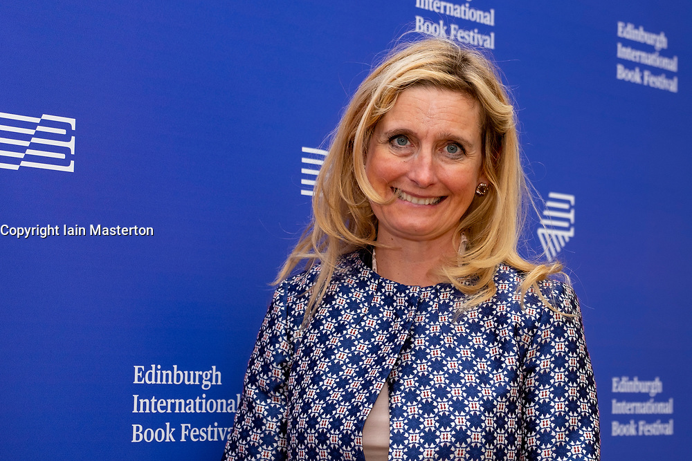 """Edinburgh, Scotland, UK. 26 August, 2018. Pictured; Cressida Cowell the worldwide bestselling author of How to Train Your Dragon. She returns to the book festival with the second book from her new series """"The Wizards of Once: Twice Magic.""""."""