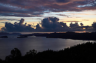 """Papuan sunset, Waigeo, Raja Ampat, Western Papua, Indonesian controlled New Guinea, on then Science et Images """"Expedition Papua, in the footsteps of Wallace"""", by Iris Foundation"""