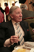 Leslie Phillips, Oldie of the Year Awards. Simpsons-in-the-Strand. London. 13 March 2007.  -DO NOT ARCHIVE-© Copyright Photograph by Dafydd Jones. 248 Clapham Rd. London SW9 0PZ. Tel 0207 820 0771. www.dafjones.com.