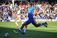 Peterborough United forward Ivan Toney (17) strides forward during the EFL Sky Bet League 1 match between Peterborough United and Blackpool at The Abax Stadium, Peterborough, England on 29 September 2018.