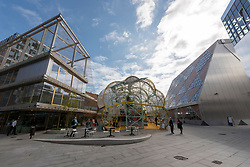 © Licensed to London News Pictures. 23/09/2021. London, UK. The new Design District in the Greenwich Peninsula is a permanent home for the creative industries. Featuring 16 buildings by eight pioneering architects, affordable spaces, comprehensive facilities and flexible leases. Photo credit: Ray Tang/LNP