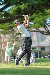 January 11, 2019 - Honolulu, HI, U.S. - HONOLULU, HI - JANUARY 11: Cameron Champ hits his tee shot at the 4th hole during the second round of the Sony Open at the Waialae Country Club in Honolulu, HI. (Photo by Darryl Oumi/Icon Sportswire) (Credit Image: © Darryl Oumi/Icon SMI via ZUMA Press)