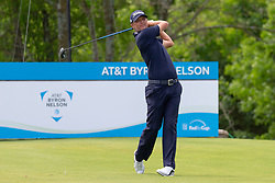 May 9, 2019 - Dallas, TX, U.S. - DALLAS, TX - MAY 09: Matt Jones hits his tee shot on #9 during the first round of the AT&T Byron Nelson on May 9, 2019 at Trinity Forest Golf Club in Dallas, TX. (Photo by Andrew Dieb/Icon Sportswire) (Credit Image: © Andrew Dieb/Icon SMI via ZUMA Press)