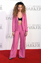Ella Eyre arriving for the Fifty Shades Darker European Premiere held at Odeon Leicester Square, London. Picture date: Thursday February 9, 2016. Photo credit should read: Doug Peters/ EMPICS Entertainment