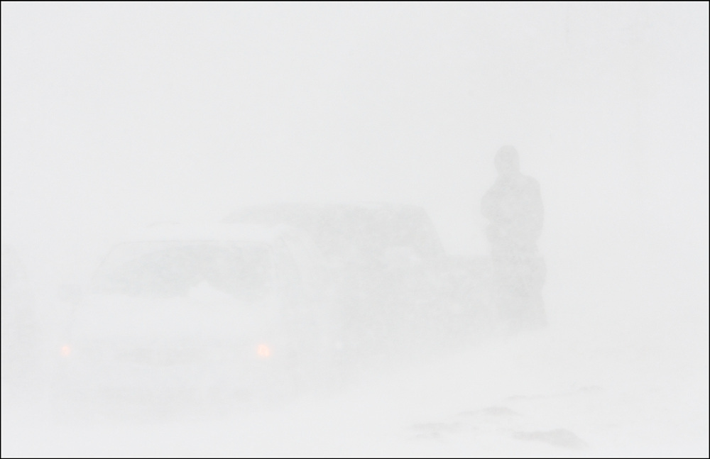 Hazardous roads conditions from an Oklahoma Blizzard caused dangerous travel through out the city effecting drivers.