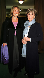 Left to right, MRS SIMON SEBAG-MONTEFIORE and her mother MRS CHARLES PALMER-TOMKINSON, at a fashion show in London on 1st March 2000.<br /> OBT 40