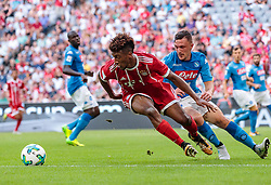 02.08.2017, Allianz Arena, Muenchen, GER, Audi Cup, FC Bayern Muenchen vs SSC Neapel, Spiel um Platz 3, im Bild Kingsley Coman (FC Bayern Muenchen), Mario Rui (SSC Napoli) // during the Audi Cup 3rd place Match between FC Bayern Munich and SSC Napoli at the Allianz Arena, Munich, Germany on 2017/08/02. EXPA Pictures © 2017, PhotoCredit: EXPA/ JFK
