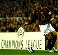 Photo: Alan Crowhurst.<br />Arsenal v Villarreal. UEFA Champions League. Semi-Final, 1st Leg. 19/04/2006. Thierry Henry of Arsenal.