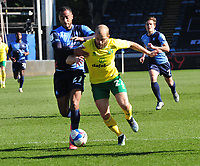 Football - 2020 / 2021 Sky Bet Championship - Wycombe Wanderers vs Norwich City - Adams Park<br /> <br /> Teemu Pukki of Norwich City and Jordan Obita of Wycombe Wanderers<br /> <br /> Credit : COLORSPORT/ANDREW COWIE