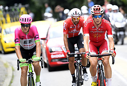 July 20, 2018 - Valence, France - VALENCE, FRANCE - JULY 20 : CLAEYS Dimitri (BEL) of Cofidis, Solutions Credits, SCULLY Tom (NZL) of Team EF Education First - Drapac p/b Cannondale, DE GENDT Thomas (BEL) of Lotto Soudal  during stage 13 of the 105th edition of the 2018 Tour de France cycling race, a stage of 169.5 kms between Bourg d'Oisans and Valence on July 20, 2018 in Valence, France, 20/07/2018 (Credit Image: © Panoramic via ZUMA Press)