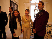 LUCA HUE-WILLIAMS; ALI HUE-WILLIAMS; MICHELE CODONI;, The launch of PINTA 2010. The Argentine AmbassadorÕs Residence, 49 Belgrave Square, London SW1. 20 April 2010.<br /> LUCA HUE-WILLIAMS; ALI HUE-WILLIAMS; MICHELE CODONI;, The launch of PINTA 2010. The Argentine Ambassador's Residence, 49 Belgrave Square, London SW1. 20 April 2010.
