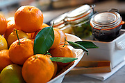 SHOT 12/11/10 5:30:26 PM - A bowl of lemons and oranges on the bar at Frasca Food and Wine in Boulder, Co. Frasca is a highly-rated neighborhood restaurant inspired by the cuisine and culture of Friuli, Italy. Historically found throughout Friuli, Frascas were friendly and informal gathering places, a destination for farmers, friends, and families to share a meal and a bottle of wine. Identified by a tree branch hanging over a doorway portal, they were a symbol of local farm cuisine, wine, and warm hospitality. (Photo by Marc Piscotty / © 2010)