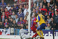 DANNY HIGGINBOTHAM scores the equlisar for southampton-BARCLAYS PREMIERSHIP-1st May2005-Charlton v Manchester Utd--.PIC BY KIERAN GALVIN / COLORSPORT