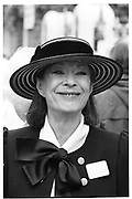 LADY CLARE RENDLESHAM, Ascot. 1982. . SUPPLIED FOR ONE-TIME USE ONLY> DO NOT ARCHIVE. © Copyright Photograph by Dafydd Jones 248 Clapham Rd.  London SW90PZ Tel 020 7820 0771 www.dafjones.com