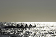 Le Havre, FRANCE, competing at the French and International, Coastal Rowing Championships. 13/10/2006. [Photo, Peter Spurrier/Intersport-images].....[Mandatory Credit Peter Spurrier/ Intersport Images] French, National and International Coastal Rowing Championships, Le Havre. FRANCE Sunrise, Sunsets, Silhouettes , Sunrise, Sunsets, Silhouettes