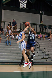 21 June 2008: Zhaque Gray (43) keeps the ball away from Mollie Yeargle (30) on a break away play. IBCA ( Illinois Coaches Basketball Association) Girls Class 3 & 4 All Star Game held at the Shirk Center on the Campus of Illinois Wesleyan University in Bloomington Illinois