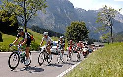 07.07.2011, AUT, 63. OESTERREICH RUNDFAHRT, 5. ETAPPE, ST. JOHANN-SCHLADMING, im Bild Etappensieger Ian Stannard, (GBR, Sky Procycling), Stefan Denifl, (AUT, Leopard Trek), Gatis Smukulis, (LAT, HTC Highroad), Gregory Rast, (SUI, Team Radioshack), Yannick Eijssen, (BEL, BMC Racing Team) // during the 63rd Tour of Austria, Stage 5, 2011/07/07, EXPA Pictures © 2011, PhotoCredit: EXPA/ S. Zangrando