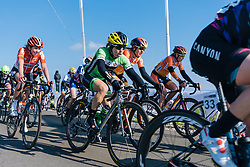 Shelley OIds takes the climb in the main group - Ronde van Drenthe 2016, a 138km road race starting and finishing in Hoogeveen, on March 12, 2016 in Drenthe, Netherlands.