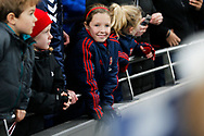 Young Arsenal fan after the FA Women's Super League match between Tottenham Hotspur Women and Arsenal Women FC at Tottenham Hotspur Stadium, London, United Kingdom on 17 November 2019.
