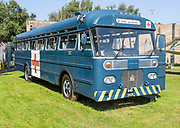 International Harvester bus made by Metropolitan Superior in 1964, Bentwaters Cold War museum, Suffolk, England, UK