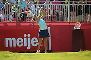 26JUL15 Lexi Thompson rips it off the 1st tee during Sunday's Final Round of The Meijer LPGA Classic at The Blythefield Country Club in Belmont, Michigan. (photo credit : kenneth e. dennis/kendennisphoto.com)
