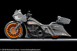 Renegade, a custom motorcycle built from a 2018 Road Glide, by Nick Beck. Photographed by Michael Lichter in Charlotte, SC, USA on 1/24/19. ©2019 Michael Lichter.