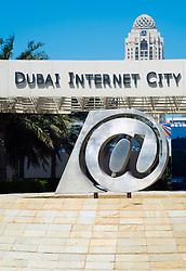 entrance to  Dubai Internet City in United Arab Emirates UAE