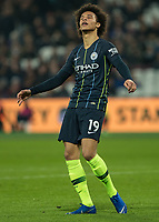 Football - 2018 / 2019 Premier League - West Ham United vs. Manchester City<br /> <br /> Leroy Sane (Manchester City) shows his disappointment after his shot goes close at the London Stadium<br /> <br /> COLORSPORT/DANIEL BEARHAM