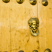 """Unique door in the """"White City"""" of Arequipa, Peru."""