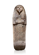 Ancient Egyptian sarcophagus lid of Djehutymes, pink granite, 19th Dynasty (1279-1213 BC.) Thebes, Khokha, TT32. Egyptian Museum, Turin. White background<br /> <br /> The lid of the coffin of Djehutymes, husband of singer Asset .<br /> <br /> If you prefer to buy from our ALAMY PHOTO LIBRARY  Collection visit : https://www.alamy.com/portfolio/paul-williams-funkystock/ancient-egyptian-art-artefacts.html  . Type -   Turin   - into the LOWER SEARCH WITHIN GALLERY box. Refine search by adding background colour, subject etc<br /> <br /> Visit our ANCIENT WORLD PHOTO COLLECTIONS for more photos to download or buy as wall art prints https://funkystock.photoshelter.com/gallery-collection/Ancient-World-Art-Antiquities-Historic-Sites-Pictures-Images-of/C00006u26yqSkDOM