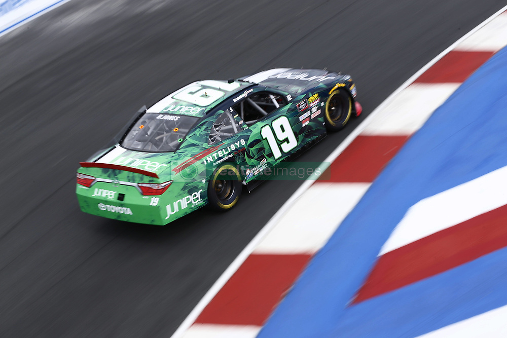 September 27, 2018 - Concord, North Carolina, United States of America - Brandon Jones (19) brings his car through the turns during practice for the Drive for the Cure 200 at Charlotte Motor Speedway in Concord, North Carolina. (Credit Image: © Chris Owens Asp Inc/ASP via ZUMA Wire)