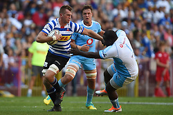 Cape Town-181020 Western Province Chris van Zyl  challenged by Trevor Nyakane of  the Vodacom Blue Bulls in the Currie Cup Semi-final game at Newlands  .Photographer:Phando Jikelo/African News Agency(ANA)
