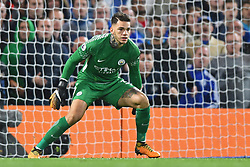 September 30, 2017 - London, Greater London, United Kingdom - Manchester City goalkeeper Ederson Moraes (31) during the Premier League match between Chelsea and Manchester City  at Stamford Bridge, London, England on 30 Sept 2017. (Credit Image: © Kieran Galvin/NurPhoto via ZUMA Press)