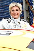 De Jumbo Racedagen, driven by Max Verstappen op Circuit Zandvoort. / The Jumbo Race Days, driven by Max Verstappen at Circuit Zandvoort.<br /> <br /> Op de foto / On the photo: Prinses Laurentien na de crash tijdens de tweede ronde van de ladies GT race  /  Princess Laurentien after the crash during the second round of the ladies GT race