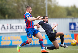 Inverness Caledonian Thistle's John Baird and Falkirk's Tom Taiwo. Falkirk 0 v 0 Inverness Caledonian Thistle, Scottish Championship game played 14/10/2017 at The Falkirk Stadium.