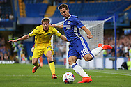 Cesar Azpilicueta of Chelsea in action. EFL Cup 2nd round match, Chelsea v Bristol Rovers at Stamford Bridge in London on Tuesday 23rd August 2016.<br /> pic by John Patrick Fletcher, Andrew Orchard sports photography.