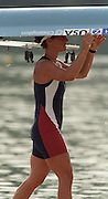 St Catharines, Ontario, CANADA 1999 World Rowing Championships. USA LW1X, Carrying the boat. [Mandatory Credit Peter Spurrier Intersport Images] 1999 FISA. World Rowing Championships, St Catherines, CANADA