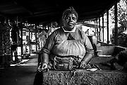 Portrait d'une femme kanak photographiée à Tiendanite - Hienghène NC - 2013