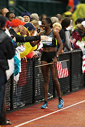 Janet Cherobon-Bawcom on victory lap after securing spot on Olympic team in 10,000 meters