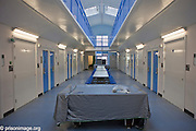 The central part of K wing of the YOI. HMP & YOI Littlehey. It's used for lunch and recreation by the prisoners. Littlehey is a purpose build category C prison.