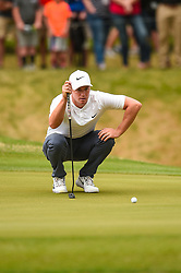 March 25, 2018 - Austin, TX, U.S. - AUSTIN, TX - MARCH 25: Alex Noren lines up a putt during the semifinals match of the WGC-Dell Technologies Match Play on March 25, 2018 at Austin Country Club in Austin, TX. (Photo by Daniel Dunn/Icon Sportswire) (Credit Image: © Daniel Dunn/Icon SMI via ZUMA Press)
