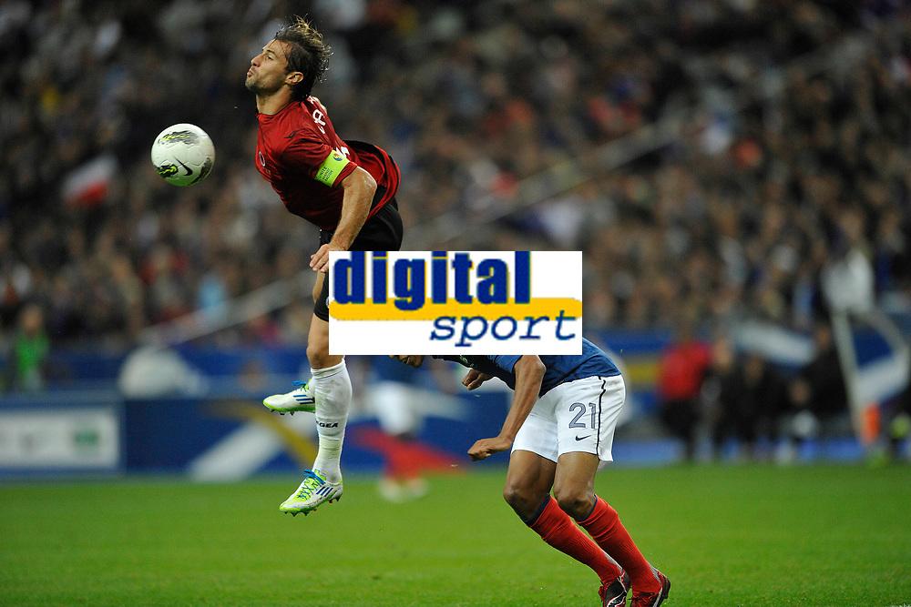 FOOTBALL - UEFA EURO 2012 - QUALIFYING - GROUP D - FRANCE v ALBANIA - 7/10/2011 - PHOTO GUY JEFFROY / DPPI - LORIK CANA (ALB)