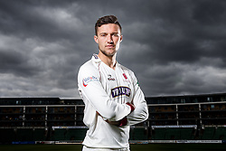 Ryan Davies of Somerset Cricket poses during a portrait session - Mandatory byline: Rogan Thomson/JMP - 08/04/2016 - CRICKET - The County Ground - Taunton, England - Somerset County Cricket Club Media Day.